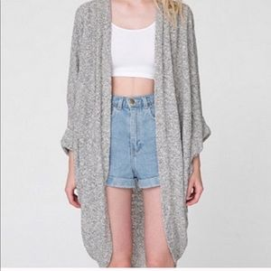 American Apparel Open Front Cardigan